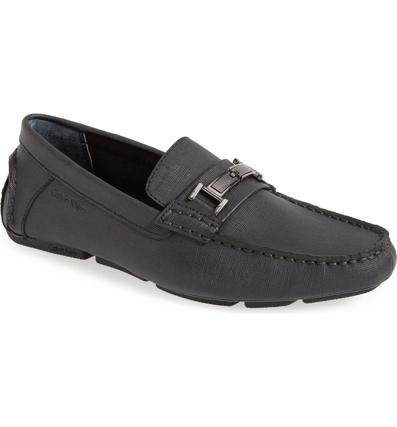 CALVIN KLEIN Magnus Driving Shoe, Main, color, BLACK
