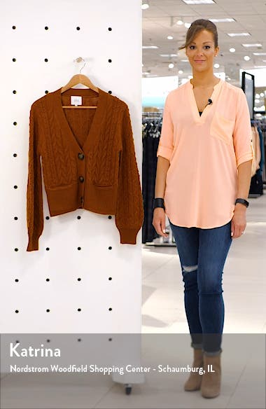 Cable Knit Cardigan, sales video thumbnail