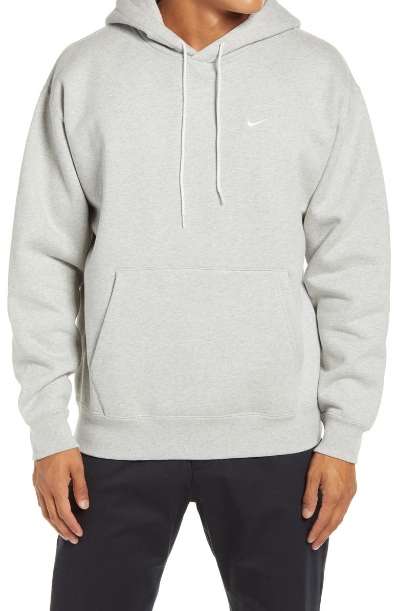 NIKE Hooded Sweatshirt, Main, color, GREY HEATHER/ WHITE/ WHITE