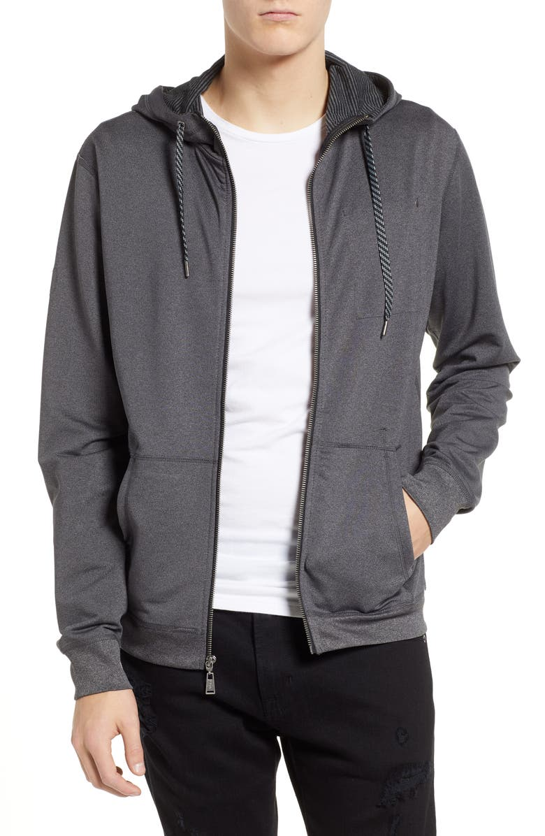 VUORI Movement Zip Hoodie, Main, color, BLACK HEATHER