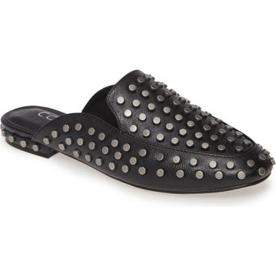 Coconuts By Matisse Kitty Studded Loafer Mule, Black