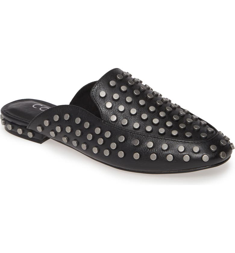 COCONUTS BY MATISSE Kitty Studded Loafer Mule, Main, color, BLACK
