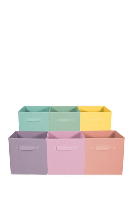 Image of Sorbus Foldable Storage Cube Basket Bin - Set of 6 - Multi