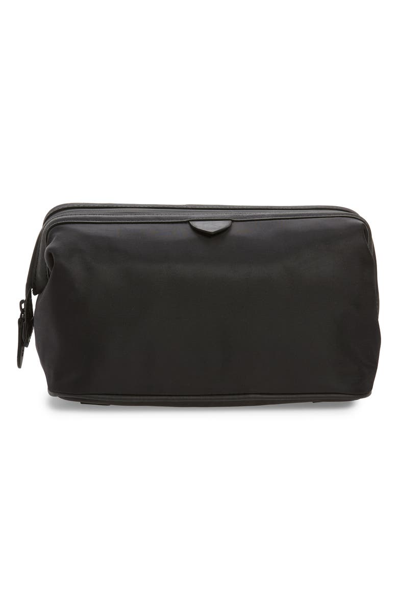 COLE HAAN Zerogrand Toiletry Bag, Main, color, BLACK