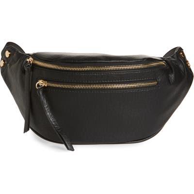 Sole Society Garyn Faux Leather Belt Bag - Black