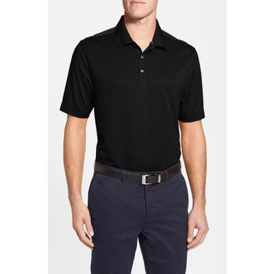 Big & Tall Cutter & Buck Glendale Drytec Moisture Wicking Polo, Black