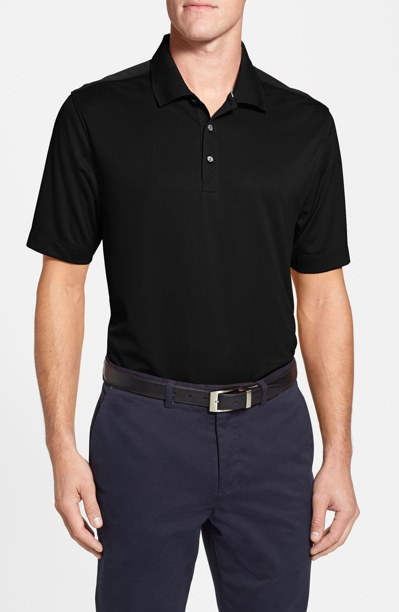 CUTTER & BUCK Glendale DryTec Moisture Wicking Polo, Main, color, BLACK