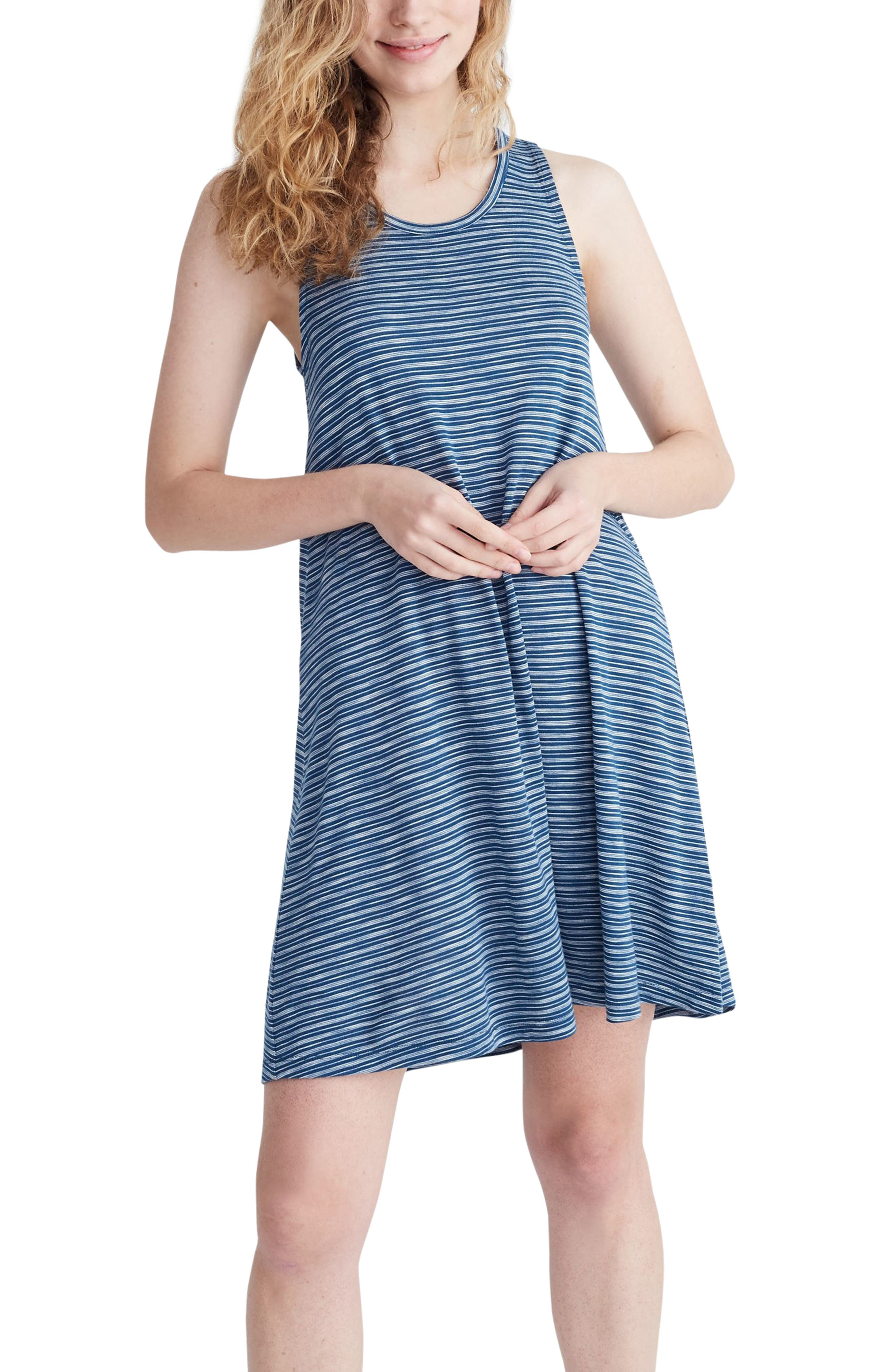 Madewell Highpoint Stripe Tank Dress, Blue