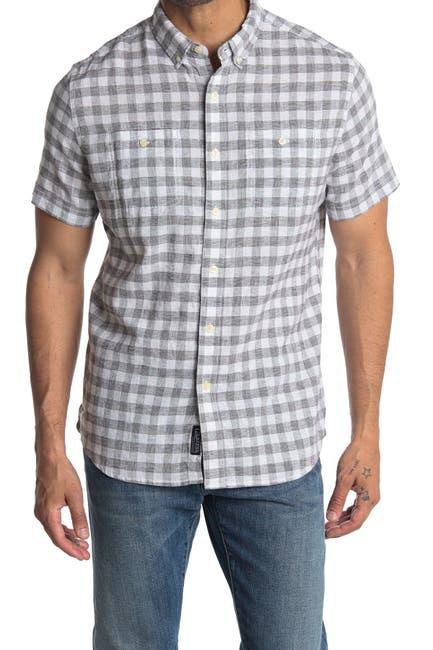 Image of Grayers Lenox Short Sleeve Gingham Print Regular Fit Shirt