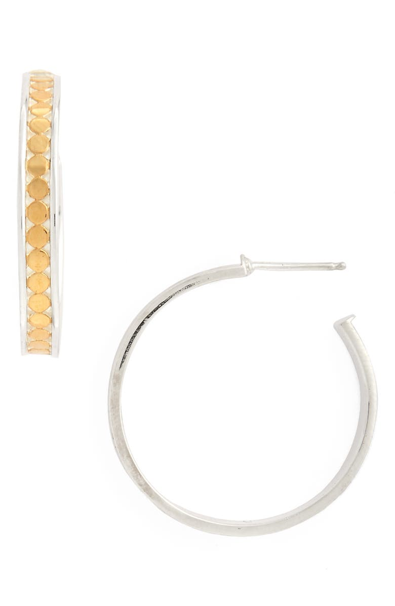 ANNA BECK Medium Hoop Stud Earrings, Main, color, GOLD