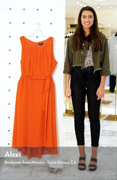 Sleeveless Chiffon Midi Dress, sales video thumbnail