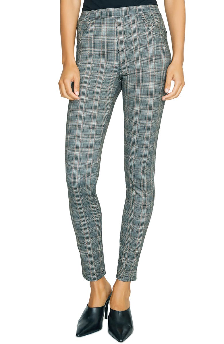 SANCTUARY Grease Leggings, Main, color, DOVER PLAID