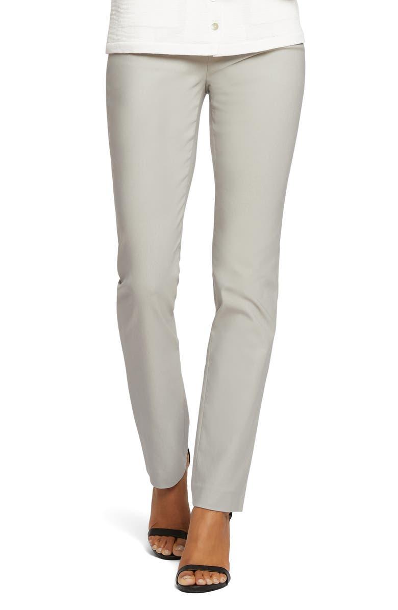 NIC+ZOE Wonderstretch Straight Leg Pants, Main, color, GREY SMOKE