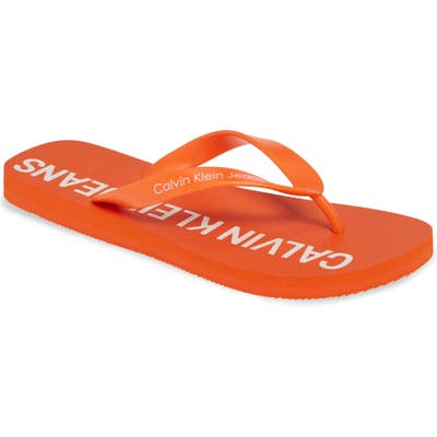 Calvin Klein Jeans Errol Flip Flop, Orange