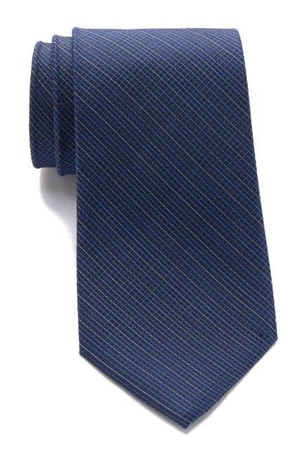 Image of Calvin Klein Simple Grid Silk Tie