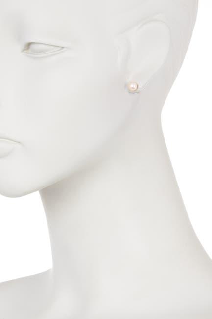 Image of Splendid Pearls 14K Gold 6-7mm Pink Freshwater Pearl Stud Earrings