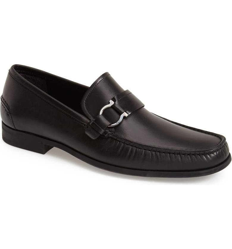 SALVATORE FERRAGAMO 'Ponza' Bit Loafer, Main, color, 001