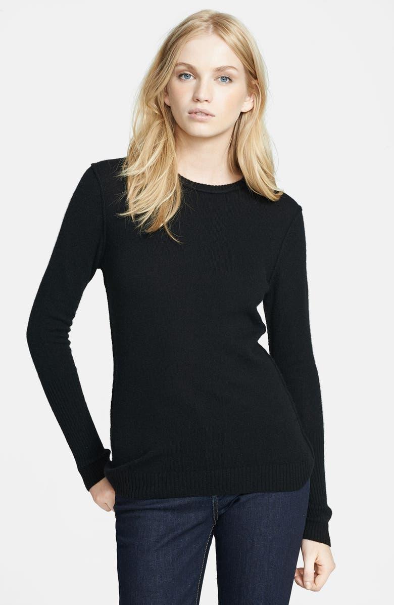 AUTUMN CASHMERE Crewneck Cashmere Sweater, Main, color, 001