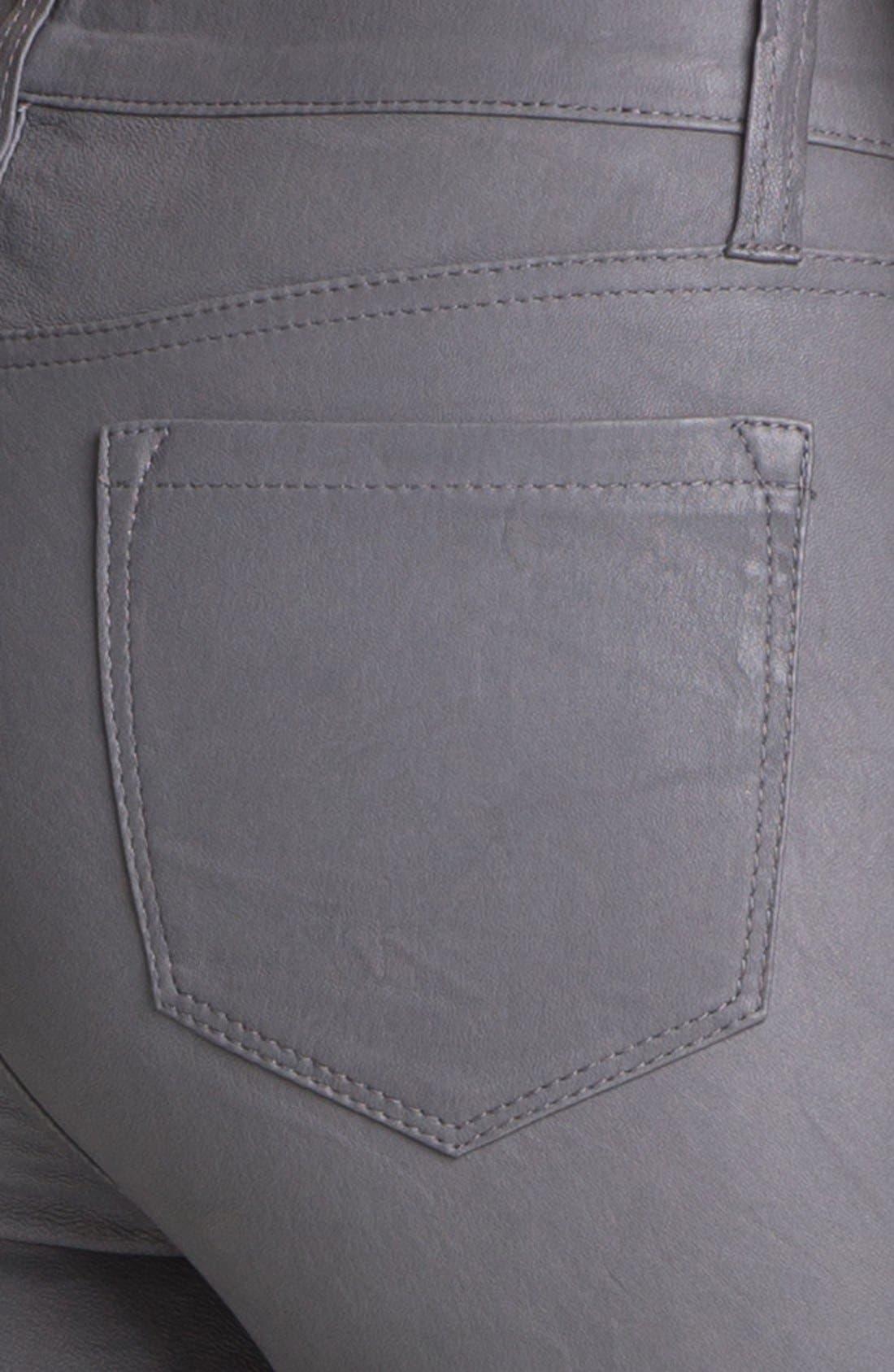 ,                             '8001' Lambskin Leather Pants,                             Alternate thumbnail 41, color,                             022