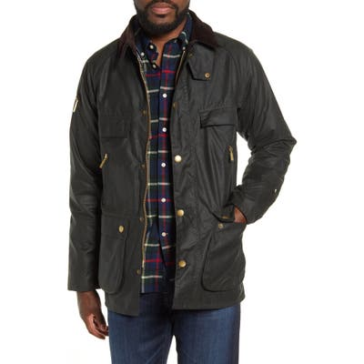 Barbour Icon Bedale Waxed Cotton Jacket, Green