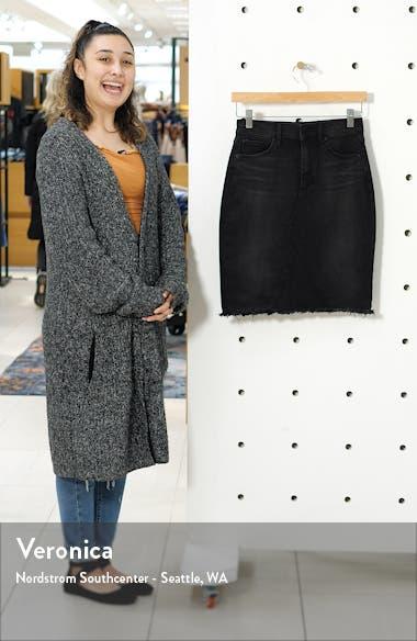 Sherry Raw Hem Denim Skirt, sales video thumbnail