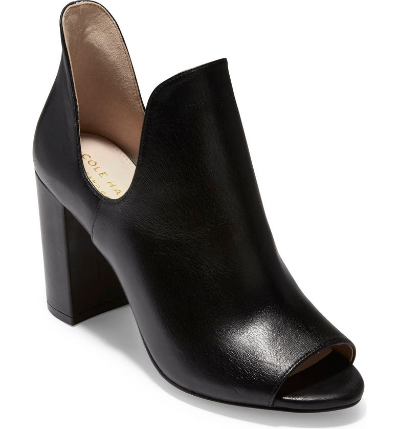 COLE HAAN Electa Bootie, Main, color, BLACK LEATHER