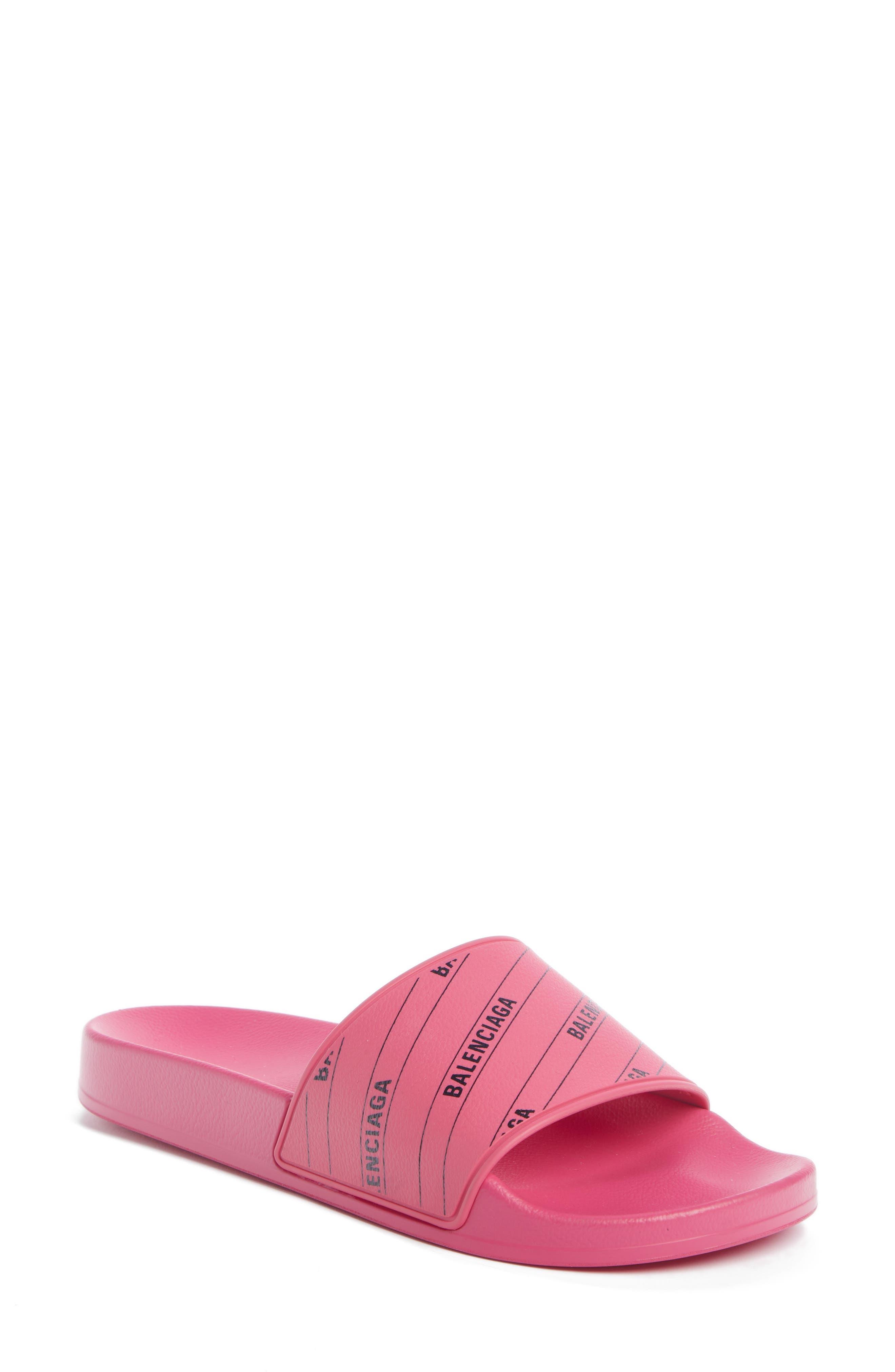 Balenciaga Logo Pool Slide Sandal