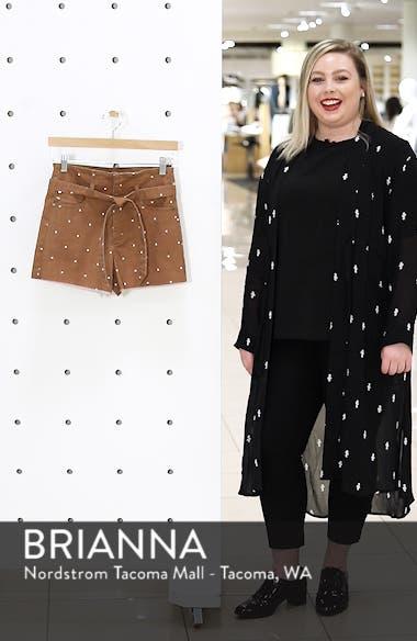 Polka Dot Belted Denim Shorts, sales video thumbnail