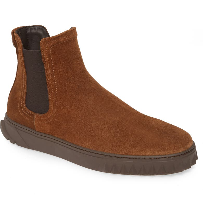 SALVATORE FERRAGAMO Talos Chelsea Boot, Main, color, BROWN