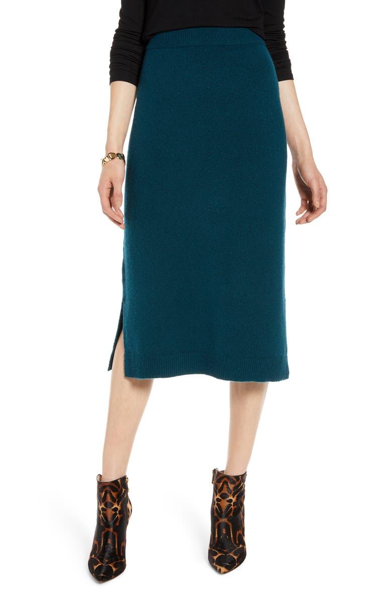 HALOGEN<SUP>®</SUP> Midi Sweater Skirt, Main, color, 449