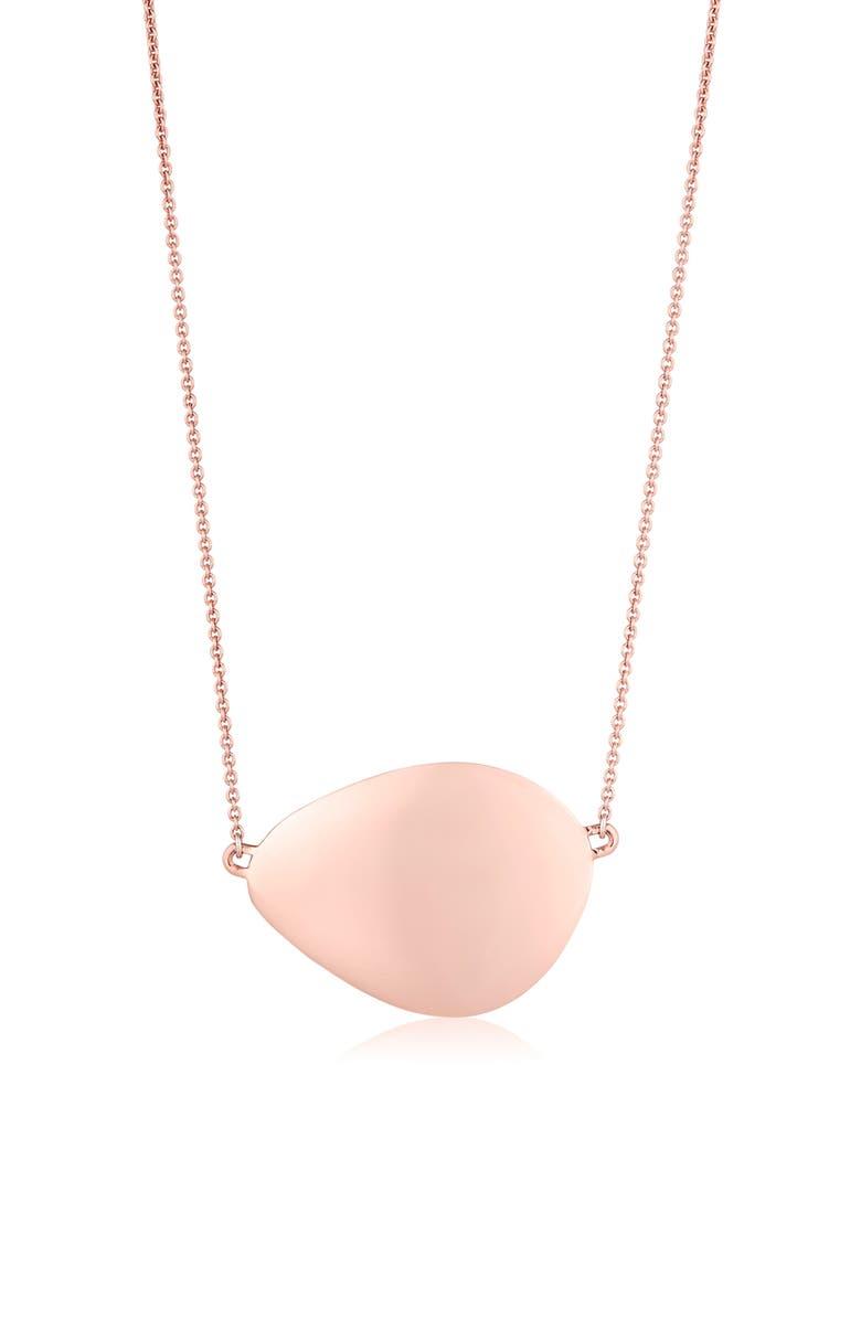 MONICA VINADER Nura Large Teardrop Pendant Necklace, Main, color, ROSE GOLD