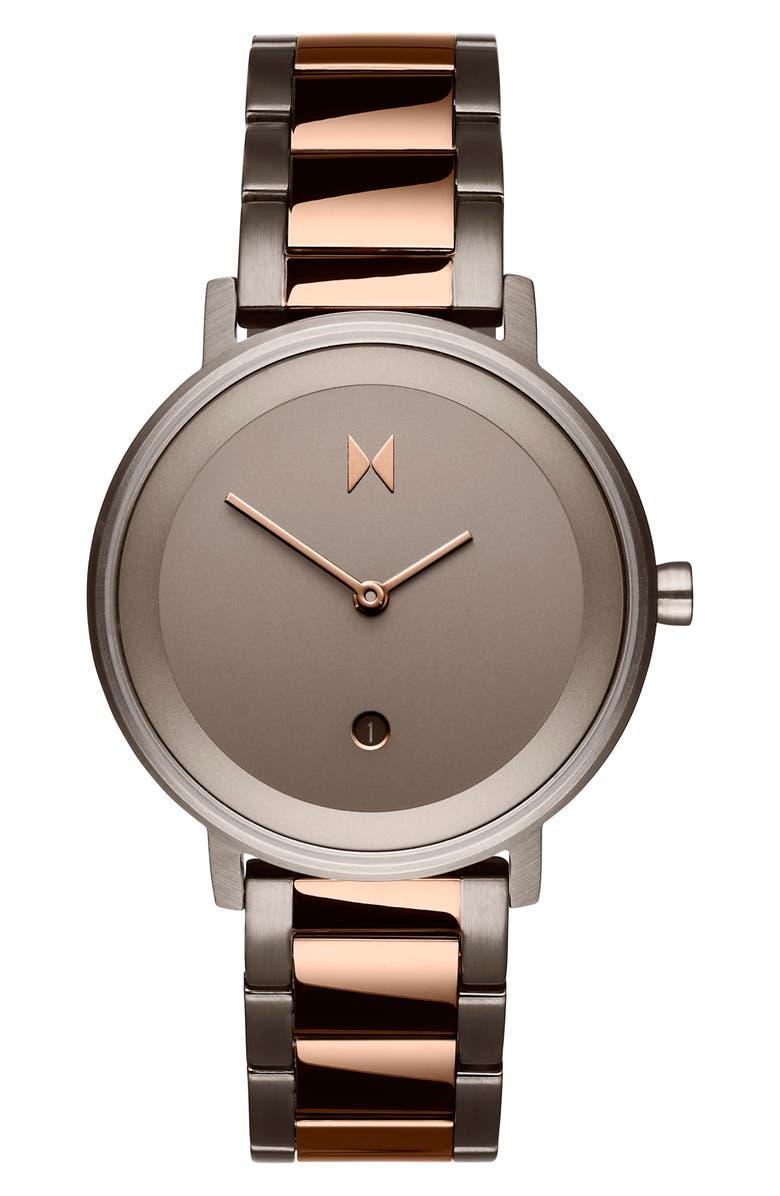 MVMT Signature Bracelet Watch, 34mm, Main, color, ROSE GOLD/ TAUPE/ ROSE GOLD