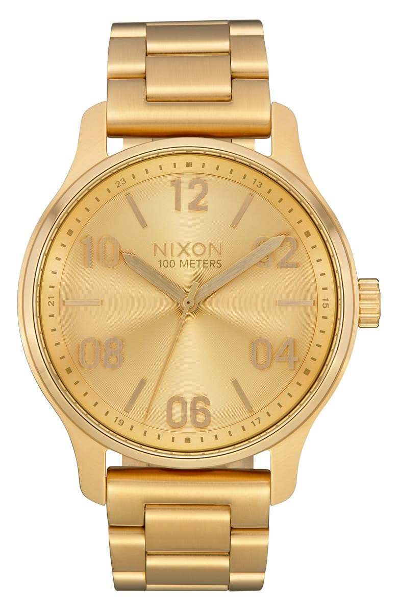 NIXON The Patrol Bracelet Watch, 42mm, Main, color, GOLD