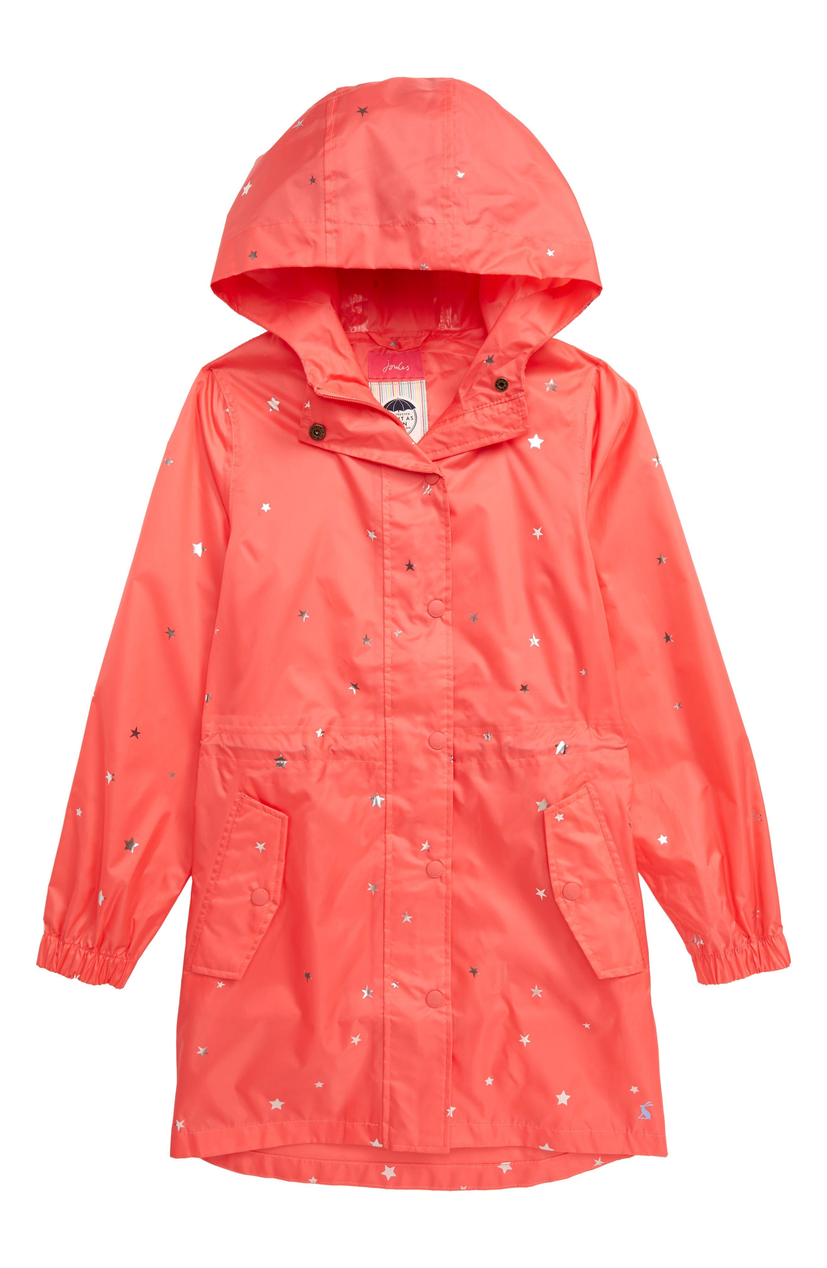 Toddler Girls Joules Golightly Packable Waterproof Rain Jacket Size 3Y  Pink