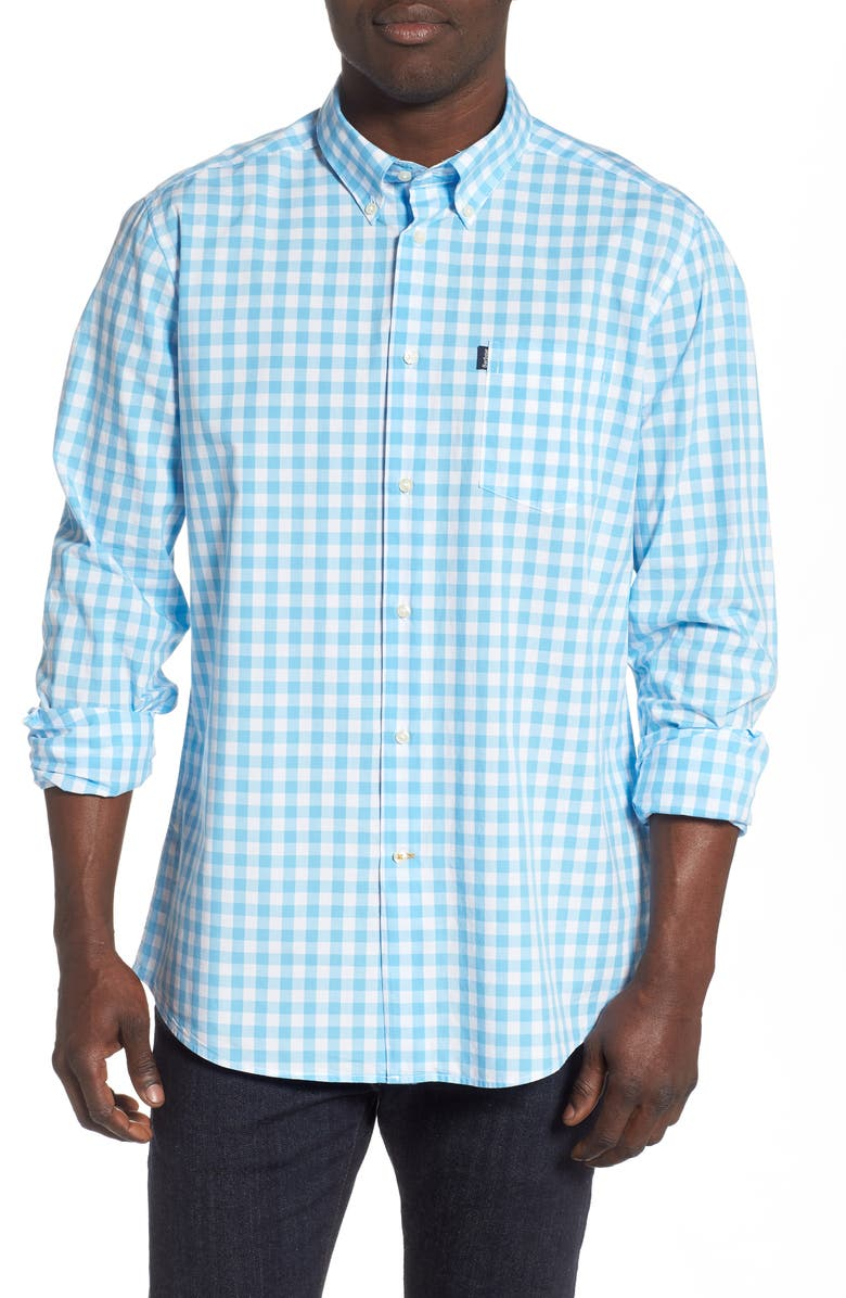 BARBOUR Tailored Fit Gingham Shirt, Main, color, 450