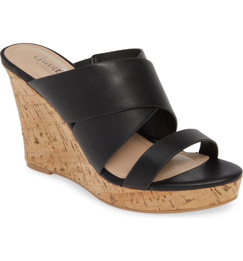 CHARLES BY CHARLES DAVID Leslie Wedge Sandal, Main, color, 001
