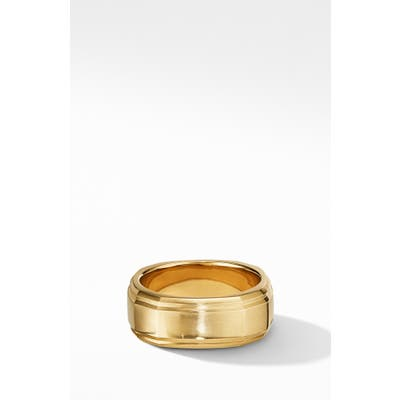 David Yurman 18K Gold Deco Band Ring