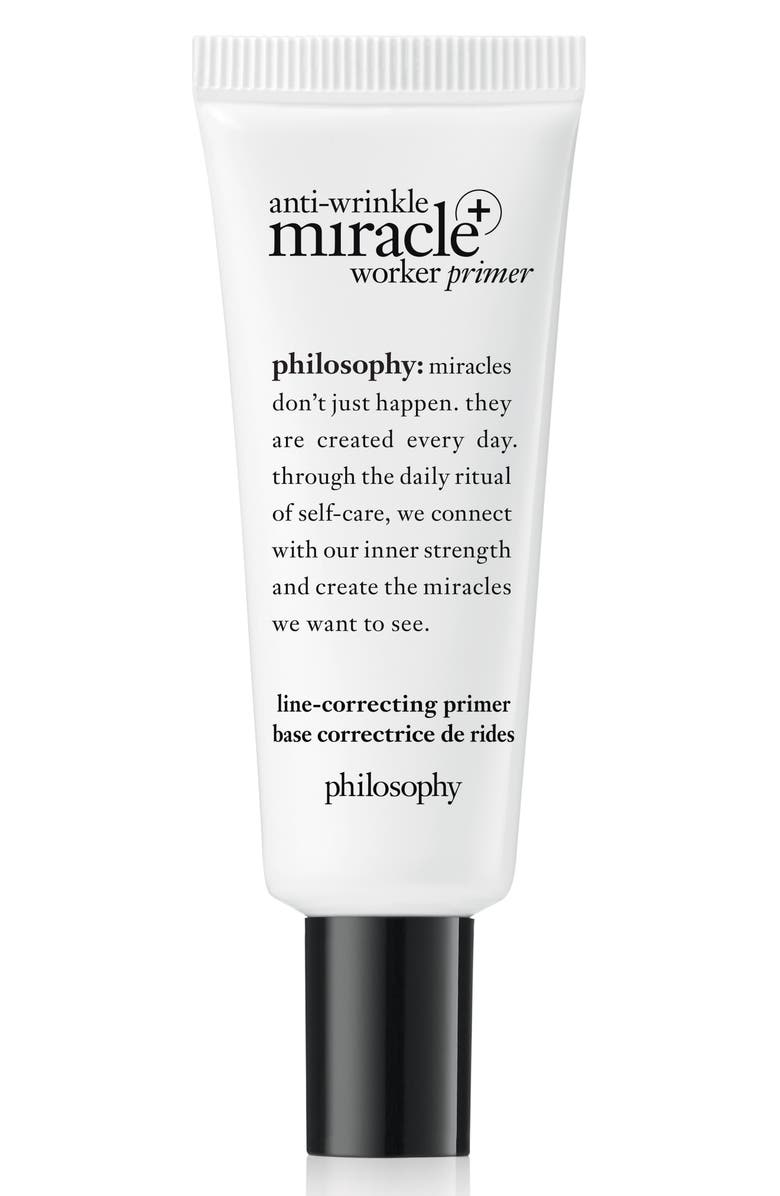 PHILOSOPHY anti-wrinkle miracle worker primer + line-correcting primer, Main, color, NO COLOR