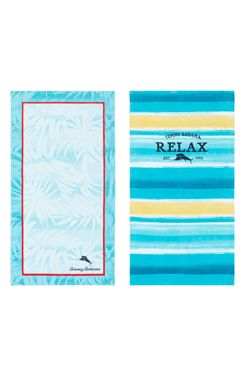 Tommy Bahama Captain Stripe Marlin Set Of 2 Beach Towels Nordstrom