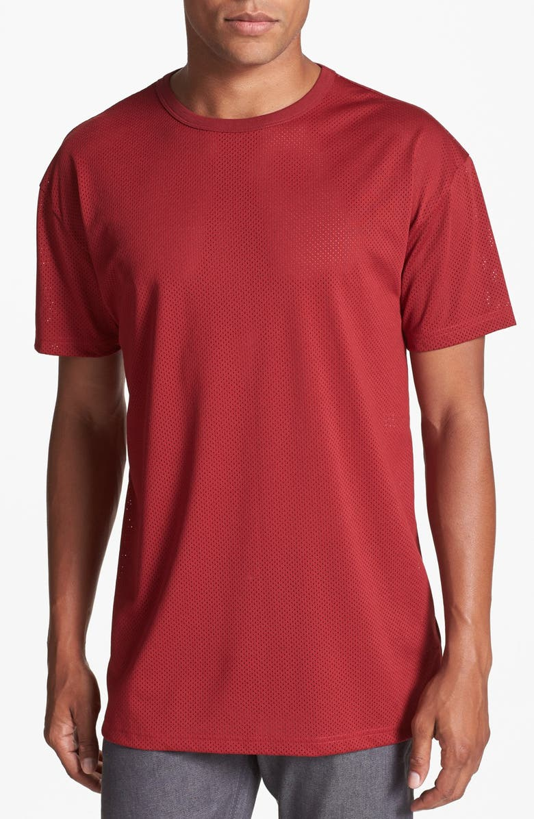 TOPMAN Oversized Mesh T-Shirt, Main, color, 600