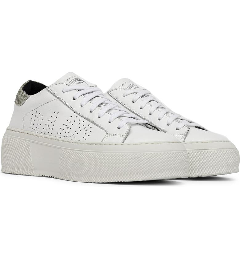 P448 Louise Platform Sneaker, Main, color, WHITE/ MEXPY