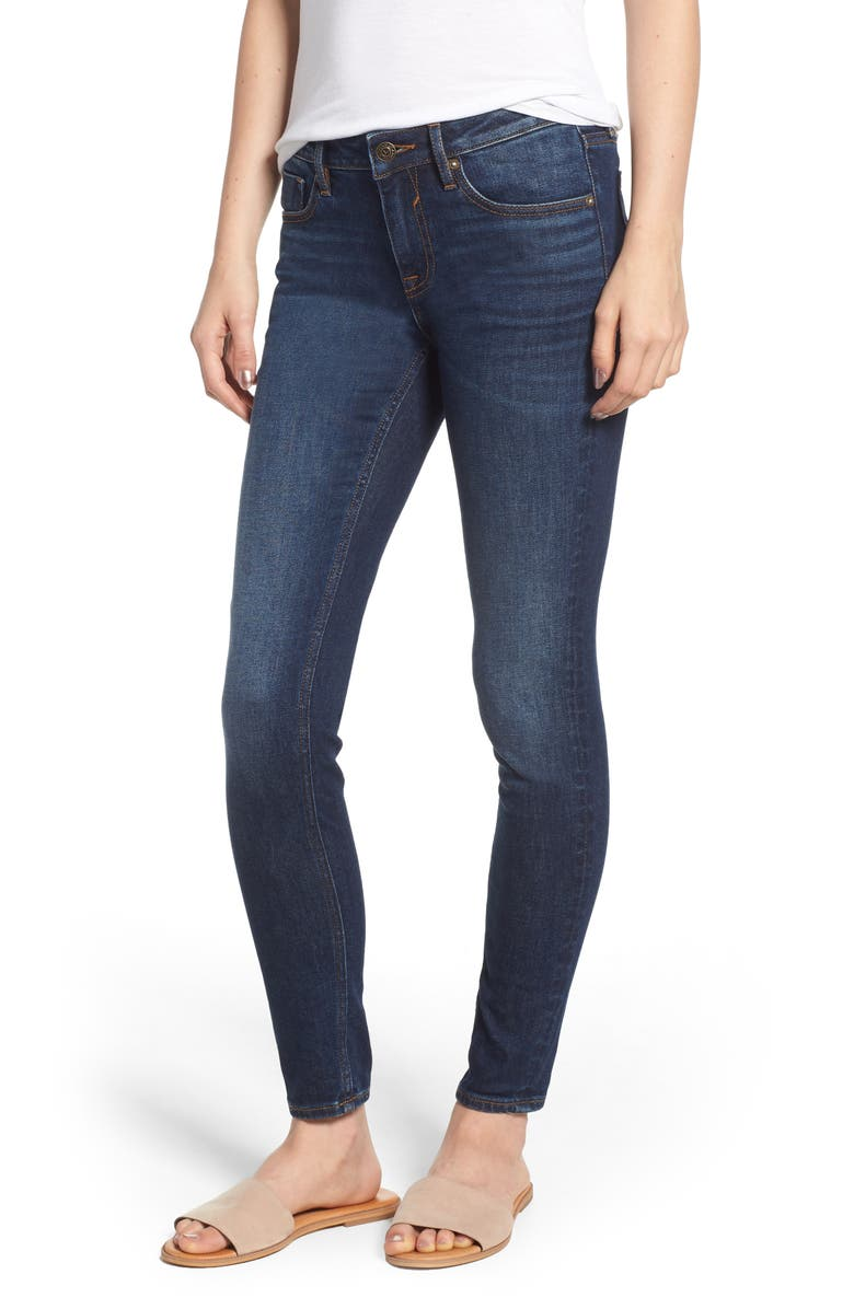 VIGOSS Jagger Skinny Jeans, Main, color, DARK WASH