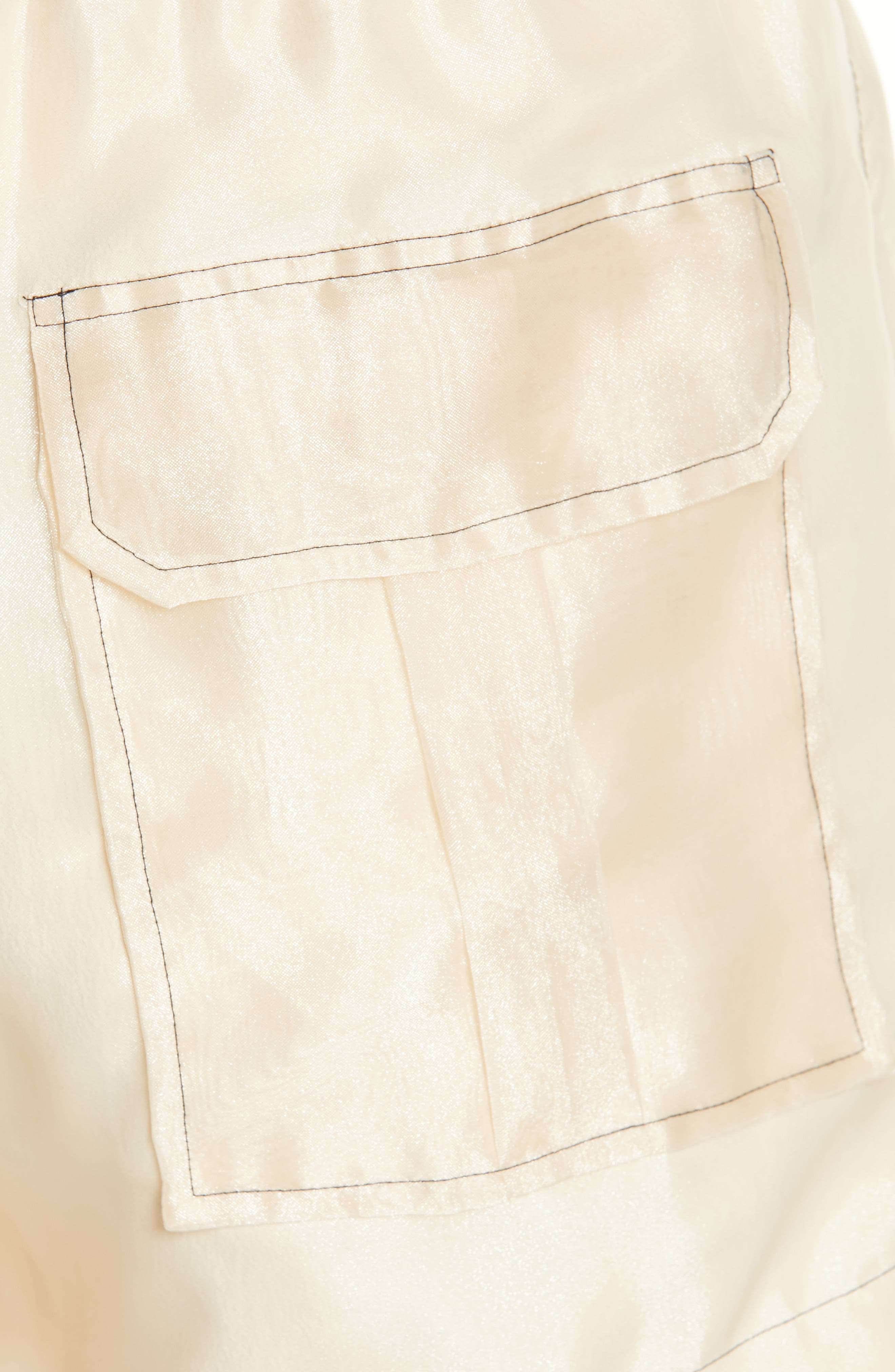 ,                             Solid Organza Shorts,                             Alternate thumbnail 5, color,                             TAPIOCA