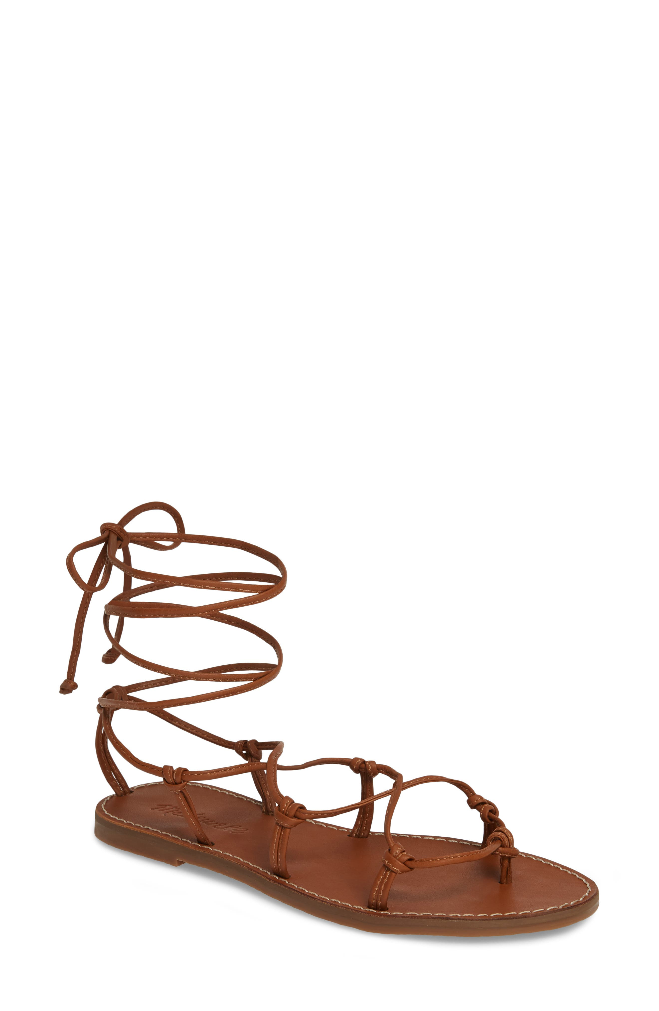 Madewell The Boardwalk Lace-Up Sandal (Women)