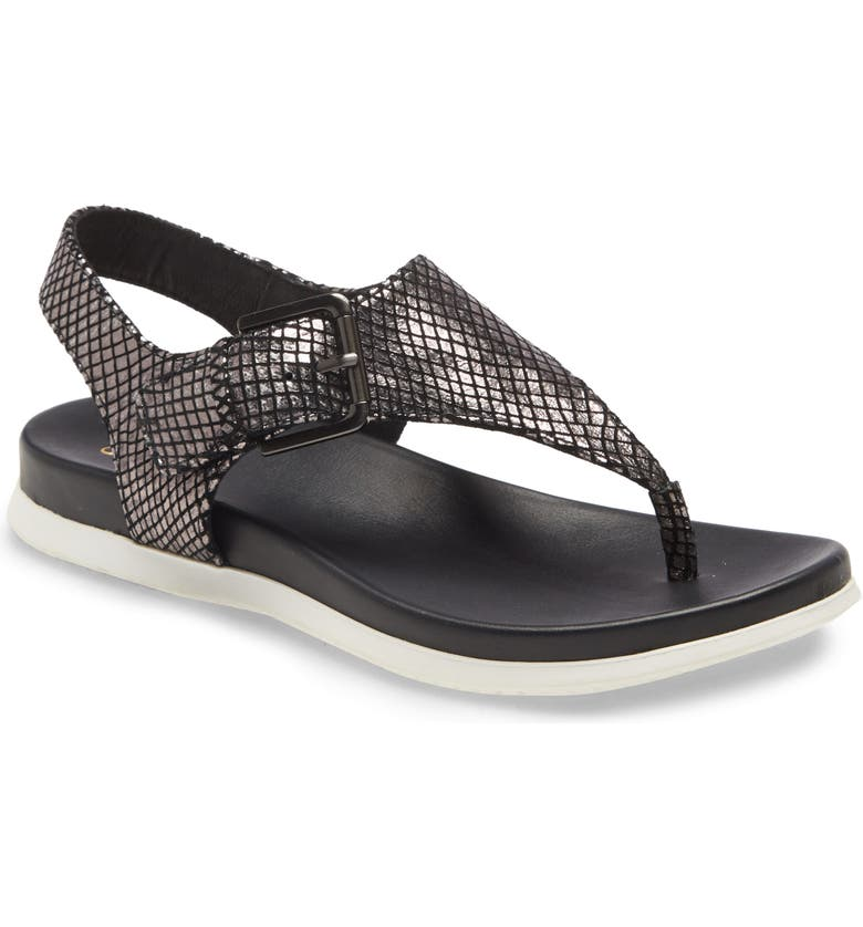 SÖFFT Farlyn Sandal, Main, color, BLACK LEATHER