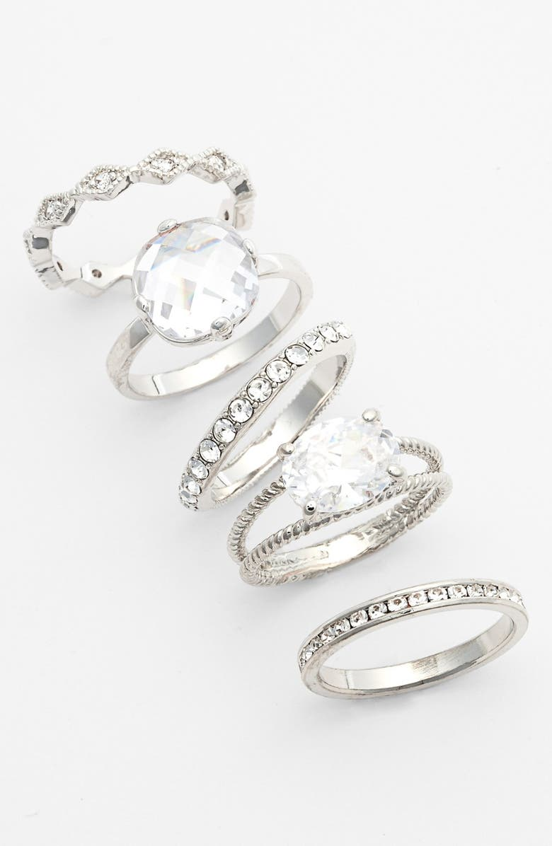ARIELLA COLLECTION Mixed Stackable Rings, Main, color, 040