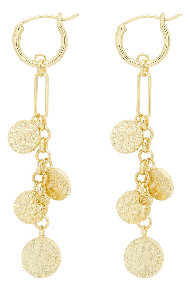 GORJANA Banks Mixed Coin Drop Earrings, Main, color, GOLD