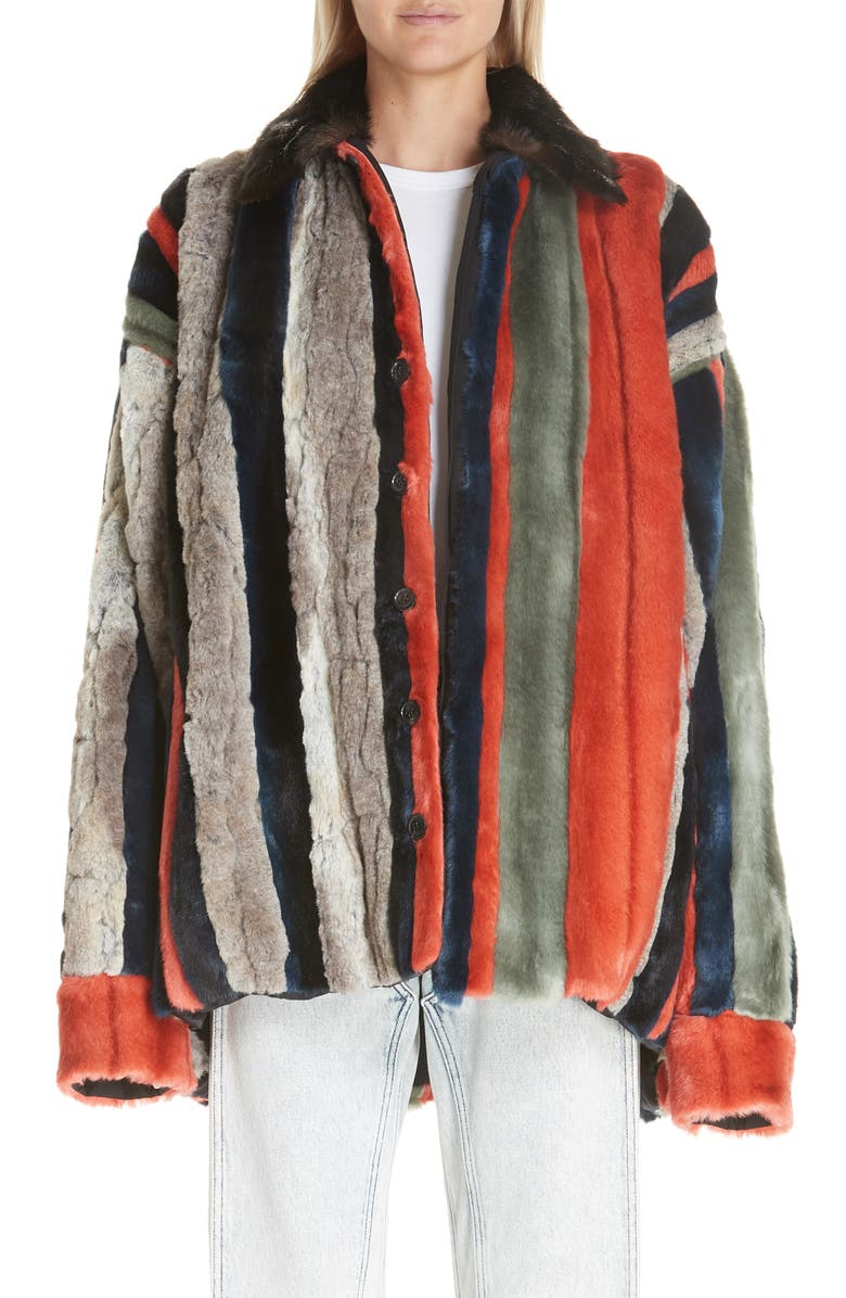 8144cce14 Y/Project Oversized Multicolor Faux Fur Jacket | Nordstrom