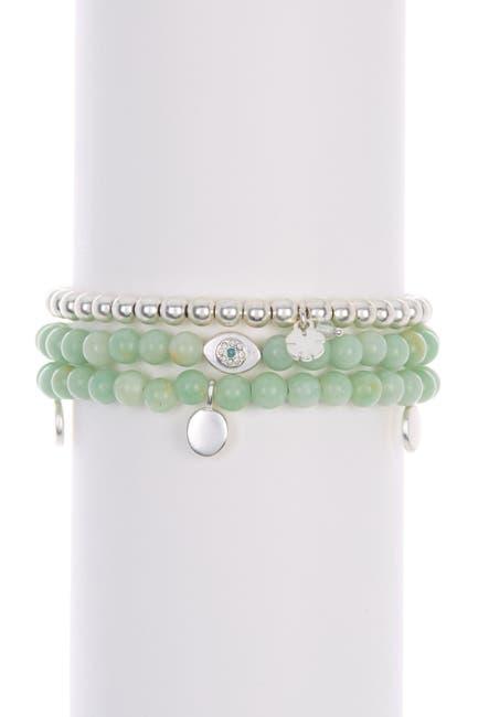 Image of Lucky Brand Evil Eye Beaded Bracelet