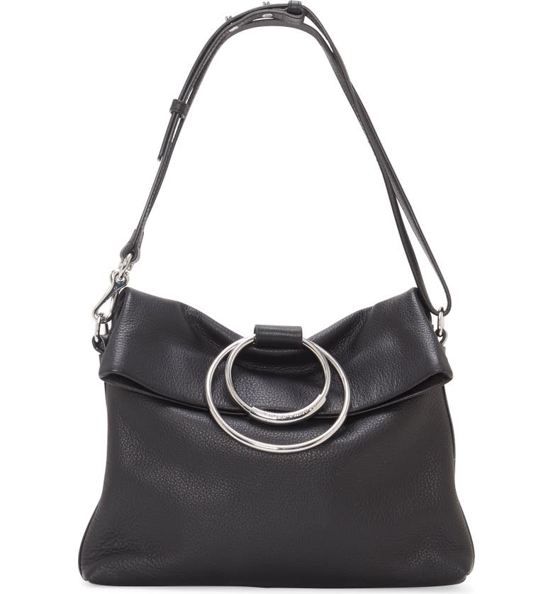 VINCE CAMUTO Kimi Large Leather Crossbody Bag, Main, color, 001